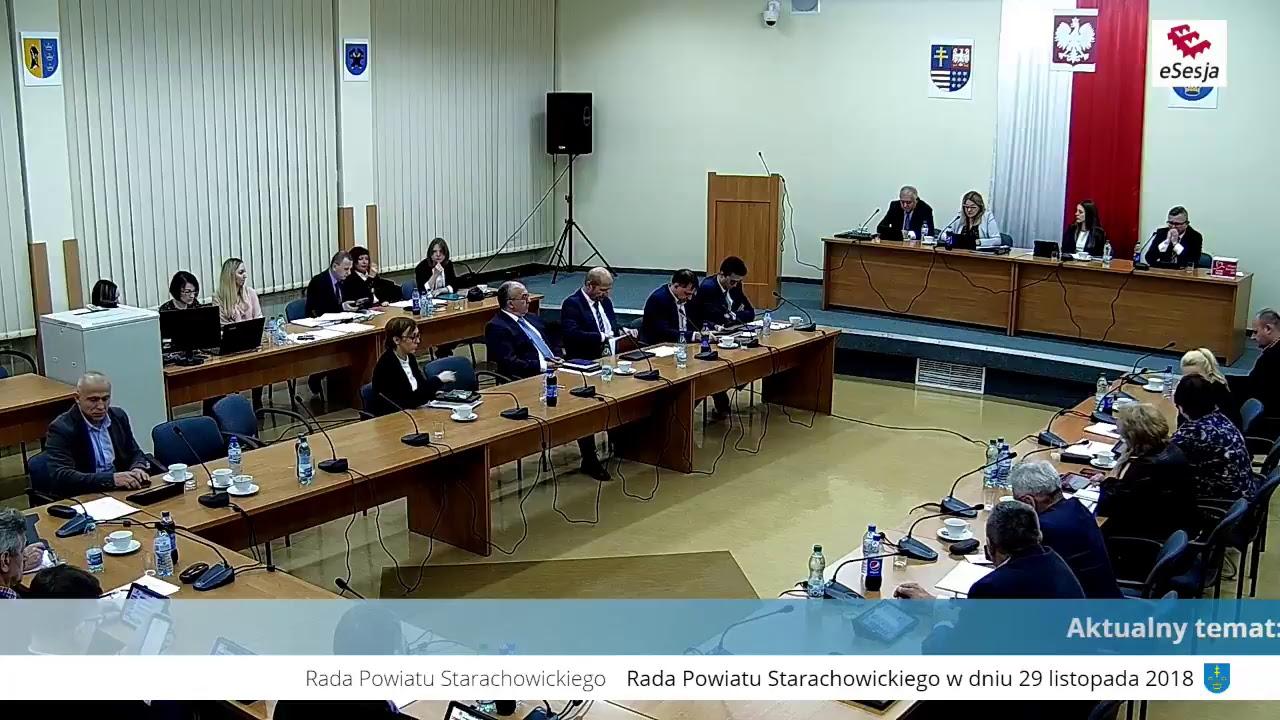 II Sesja Rady Powiatu w Starachowicach 29.11.2018r.