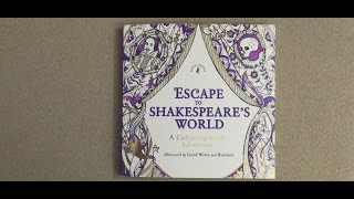 Escape to Shakespeare's World: A Colouring Book Adventure flip through