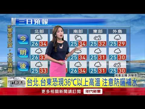 6/3 今各地時雨時晴 午後易有大雨 高溫恐破34度