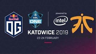 Live [English]: OG vs FNATIC B03 | Lower Bracket Semi-Finals | ESL One Katowice
