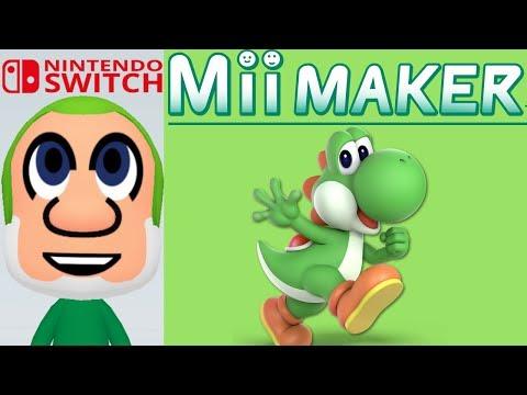 Mii Maker How to make Yoshi - Mario Bros - Nintendo Switch