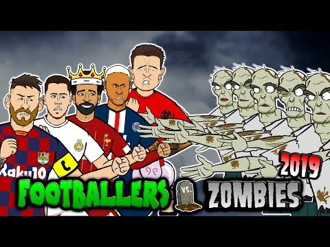 🧟Footballers vs Zombies: 2019🧟 (Messi, Neymar, Mbappe, Salah, Kane & more! Halloween Special)