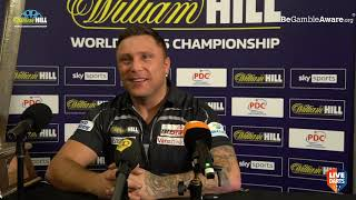 """Gerwyn Price reacts to becoming World Champion: """"I deserve this trophy but the pressure starts now"""""""