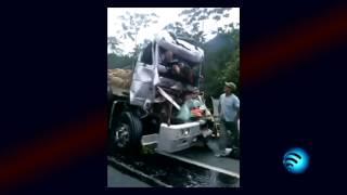 Caminhoneiro filma acidente com morte em Guaratuba