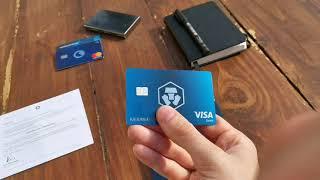 Crypto Visa-Karte Mitternachtsblau