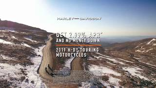 2.99% APR* no money down on 2019 H-D touring motorcycles