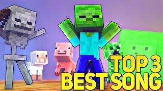 ТОП 3 ВЕСЁЛЫХ МАЙНКРАФТ РЭП ПЕСЕН СБОРНИК (На Русском) | TOP 3 Best Minecraft Parody Song Animation