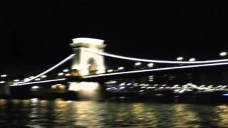 Night Cruise on Danube river in Budapest, Hungary