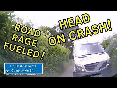 UK Dash Cameras - Compilation 34 - 2018 Bad Drivers, Crashes + Close Calls