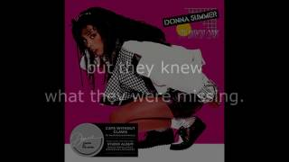 "Donna Summer - Eyes (12"" Single Remix) LYRICS SHM ""Cats Without Claws"" 1984"