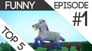 Top 5 Funny Minecraft Animations Episode #1 October