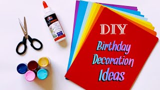 DIY Best 4 Birthday Decoration Ideas | Easy Birthday Decoration |  Paper Craft Decors |  #68 |
