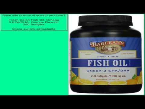 Fresh Catch Fish Oil, Omega 3 EPA/DHA, Orange Flavour, 250 Softgels