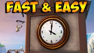 VISIT DIFFERENT CLOCKS FAST AND EASY - ALL CLOCK LOCATIONS FORTNITE BATTLE ROYALE