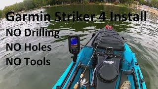 Garmin Striker 4 Kayak Install...Simple Transducer Mounting Option