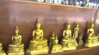 preview picture of video 'LUCKY ! LUCKY ! LUCKY ! Row of golden Buddha statues  - Chachoengsao , Thailand ฉะเชิงเทรา'