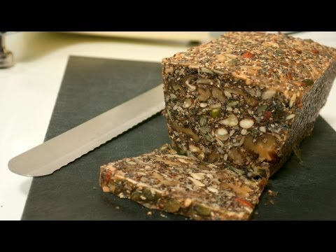 "This guy shows you how to make ""Nordic Nut Bread"" made up of a mix of nuts and seeds."