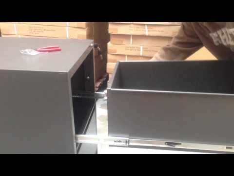 How to put the filing cabinet back?