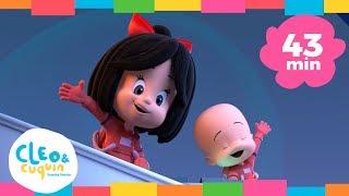 TAN ALTA COMO LA LUNA Y Más Canciones. Cleo & Cuquín   Familia Telerín. Canciones Para Niños (43min)