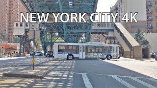 Driving Downtown - Harlem 4K - New York City USA