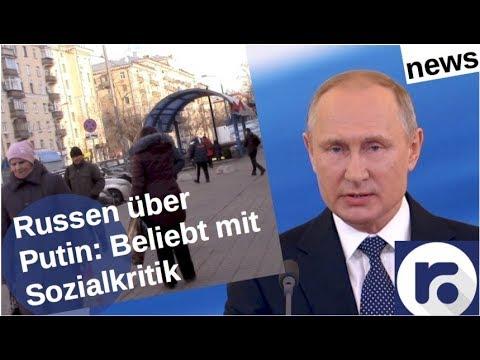 Russen über Putin: Beliebt,  aber Sozialkritik [Video]