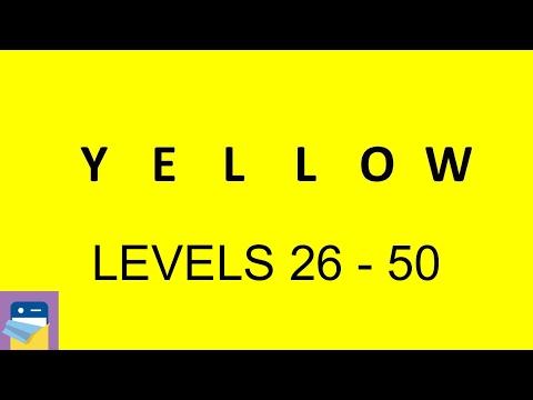 Yellow (game): Levels 26 - 50 Walkthrough & iOS Gameplay (by Bart Bonte)