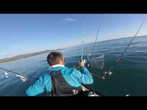 Pesca al polpo | kayak fishing | mar Tirreno centrale