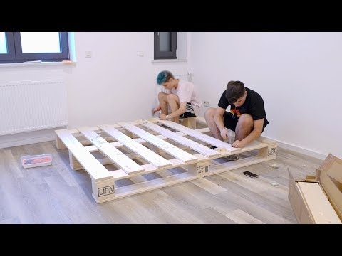 Wir bauen sein Bett aus Paletten