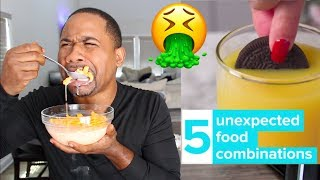 Eating 5 Weird Food Combos | PREGNANT FOOD? | Alonzo Lerone