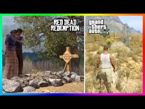 Finding John Marston's Grave From Red Dead Redemption In Grand Theft Auto 5! (GTA 5)