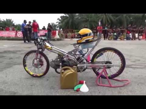 KING 4 Strioke 150cc Sprint Test Drag Racing Kubang Menerong
