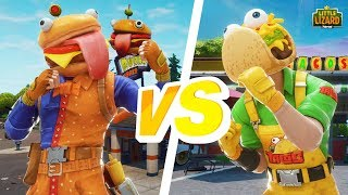 TACO VS DURR BURGER!!! - Fortnite Season X