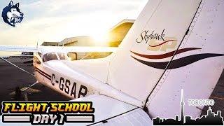 FLIGHT SCHOOL - DAY 1 - Toronto Downtown Scenic Flight - Pilot Vlogs #1