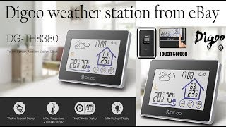 Digoo Wireless Touch In&Outdoor Weather Station. eBay