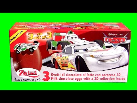 Disney Cars Silver Racer Series SURPRISE Eggs McQueen