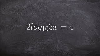 Learn how to solve a logarithmic equation by rewriting in exponential form
