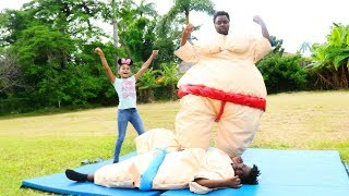 FAMILY SUMO WRESTLING GONE WRONG !!!