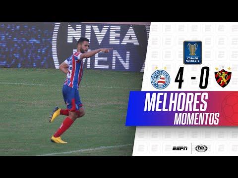 MASSACRE TRICOLOR COM GOLAÇOS! Melhores momentos de Bahia 4 x 0 Sport na Copa do Nordeste