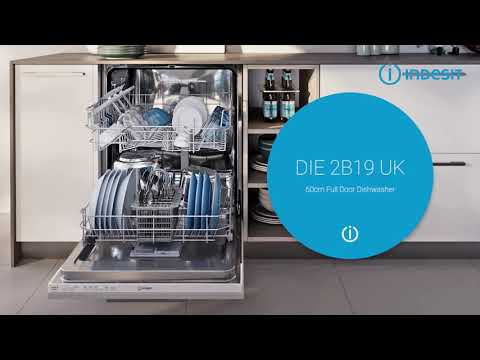 Indesit Built In 60 Cm Dishwasher Fully DIE2B19UK - Fully Integrated Video 1