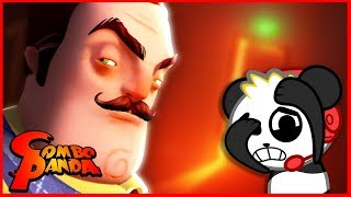 Scary Hello Neighbor on Halloween Challenge  Let's Play with Combo Panda