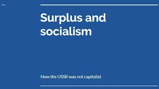 Socialism and surplus