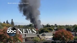 Plane crashes into home with dad, toddler inside | ABC News