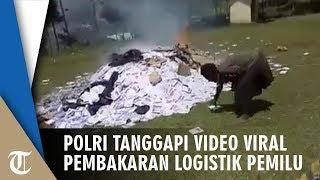 Viral Video Pembakaran Logistik Pemilu di Puncak Jaya Wijaya, Ini Tanggapan Polisi