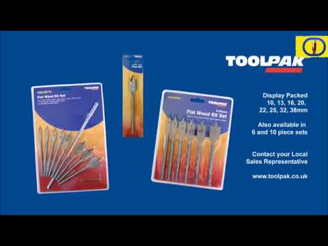 Flat Wood Drill Bit Set
