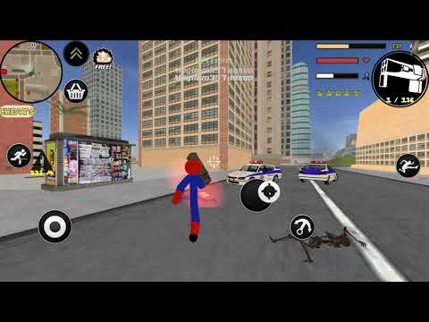 Vídeo do Spider Stickman Rope Hero Gangstar Crime