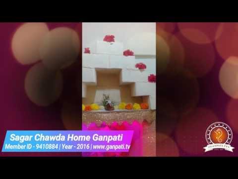 Sagar Chawda Home Ganpati Decoration Video
