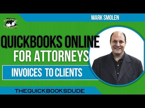 QuickBooks Online Attorneys Invoices Billing Clients