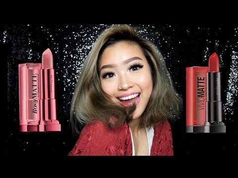 Maybelline Vivid Matte and Rosy Matte Lipsticks! | Marcella Febrianne