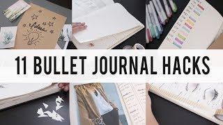 11 BULLET JOURNAL HACKS / DIY / Tips / IDEAS  | ANN LE