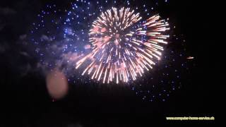 preview picture of video 'Feuerwerk Vaduz 2012'